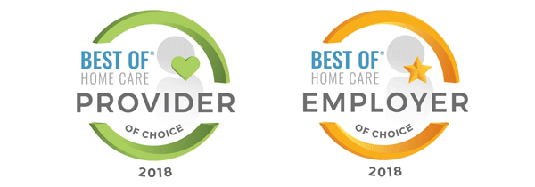 Best of Home Care - Provider and Employer of Choice 2018